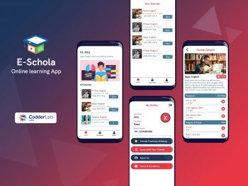 E-Schola Education app features| android app source code | codderlab.com