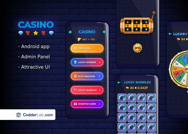 Casino Win Real Money App Features | Android Source Code & Admin Panel