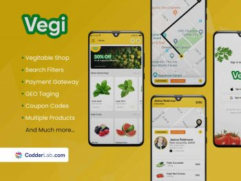 Vegi – Grocery Store App Features